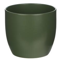 Кашпо Soendgen basel d12 матовый темно-зеленый