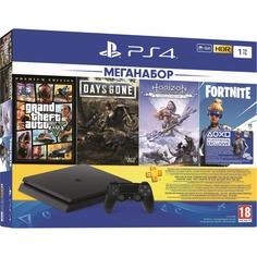 Игровая приставка Sony PlayStation 4 1 TB (CUH-7208B) + DG/GTA V/HZD/FT/3 месяца PS Plus
