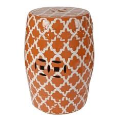 Подставка Glasar оранжевая керамическая в виде бочонка 33x33x45 см ГЛАСАР