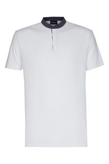 Белая футболка-хенли Emporio Armani