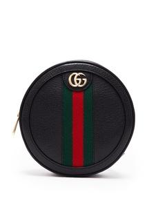 Круглый черный мини-рюкзак Ophidia Gucci
