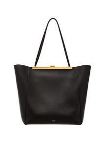 Черная сумка-трапеция Celine