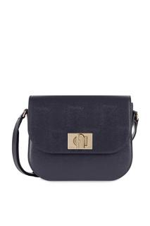 Темно-синяя кожаная сумка Furla 1927