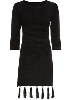 Короткие платья Вязаное платье c с бахромой Bonprix