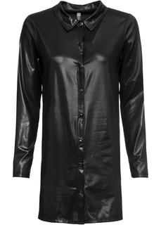 Блузки с длинным рукавом Туника из имитации кожи Bonprix