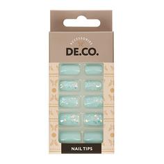Набор накладных ногтей DE.CO. HOLO Frosty 24 шт+ клеевые стикеры 24 шт Deco
