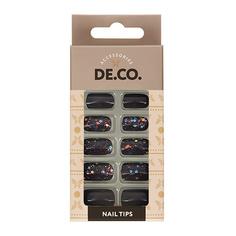 Набор накладных ногтей DE.CO. HOLO Scandal 24 шт+ клеевые стикеры 24 шт Deco