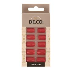 Набор накладных ногтей DE.CO. GLOW Flare 24 шт+ клеевые стикеры 24 шт Deco