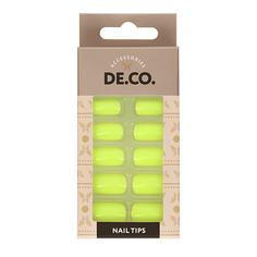 Набор накладных ногтей DE.CO. GLOW Neon 24 шт+ клеевые стикеры 24 шт Deco