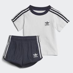 Комплект: футболка и шорты Pleated adidas Originals