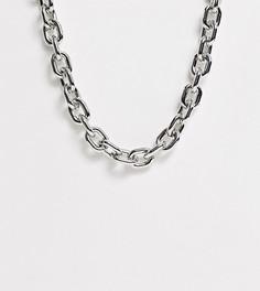 Серебристое массивное ожерелье эксклюзивно от Erase-Серебряный