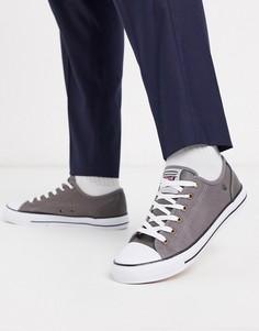 Серые кеды на шнуровке Dunlop-Серый