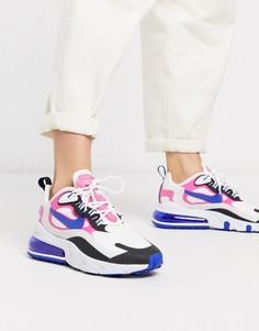 Кроссовки белого/розового/черного цвета Nike Air Max 270 React-Белый
