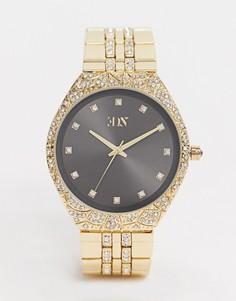 Золотистые наручные часы со стразами ASOS EDITION-Золотой