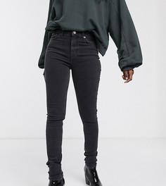 Черные джинсы скинни из органического хлопка с завышенной талией Weekday-Черный
