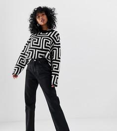 Черные узкие джинсы прямого кроя из органического хлопка Weekday-Черный
