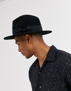 Черная фетровая шляпа регулируемого размера ASOS DESIGN-Черный цвет
