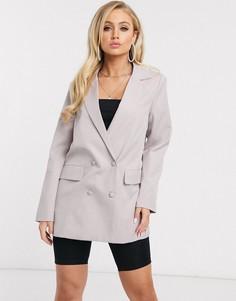 Свободный пиджак сиреневого цвета Missguided-Фиолетовый