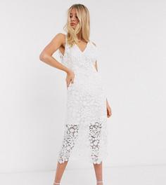 Белое кружевное свадебное платье миди Y.A.S Tall-Белый