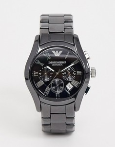 Черные часы с хронографом Emporio Armani AR1400-Черный