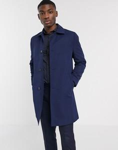 Темно-синий непромокаемый макинтош Moss London