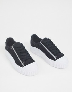 Черные кроссовки на массивной подошве ASOS DESIGN-Черный