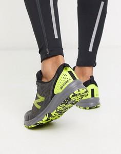 Серые кроссовки New Balance Running Nitrel v3-Зеленый