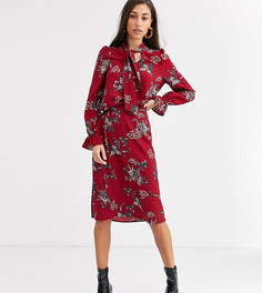 Юбка миди с принтом пейсли и разрезами Vero Moda Tall-Красный