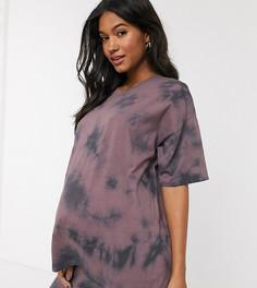 Oversize-футболка с принтом тай-дай ASOS DESIGN Maternity-Розовый