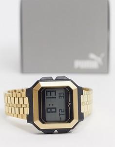 Золотистые цифровые часы Puma Remix P5016-Золотой