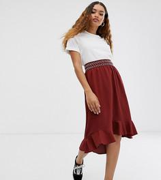 Юбка с вышивкой Vero Moda Petite-Красный