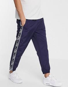 Темно-синие джоггеры с фирменной лентой по бокам Polo Ralph Lauren-Темно-синий