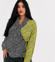 Блузка с запахом и анималистичным принтом Unique21 Hero-Мульти