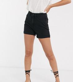 Черные джинсовые шорты в винтажном стиле Vero Moda Petite-Черный