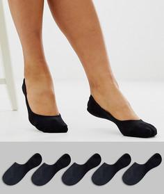 Набор из 5 пар невидимых носков ASOS DESIGN-Черный