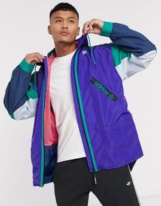 Фиолетовая ветровка adidas Originals Karkaj PT3-Синий