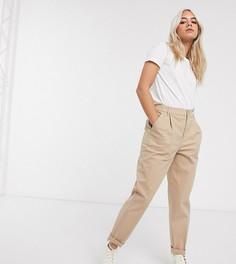 Светло-бежевые брюки чиносы ASOS DESIGN Petite-Бежевый