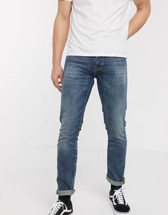 Прямые узкие джинсы Nudie Jeans Co Grim Tim-Синий