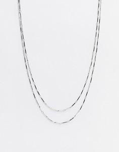 Ярусное ожерелье DesignB-Серебряный