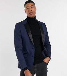 Темно-синий пиджак-смокинг скинни ASOS DESIGN Tall