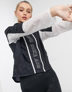 Черная куртка на молнии Nike Running Air-Черный