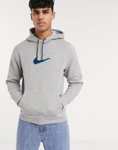 Худи серого цвета с вышитым логотипом Nike SB-Серый