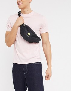 """Черная сумка-кошелек через плечо с вышивкой """"like and subscribe"""" ASOS DESIGN-Черный"""