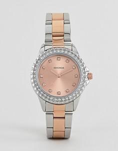 Наручные часы с циферблатом цвета розового золота Sekonda 4254-Розовый