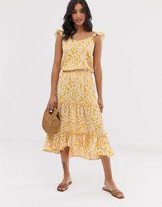 Ярусная юбка с цветочным принтом Vero Moda-Мульти