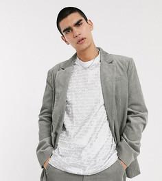 Серый вельветовый oversized-пиджак COLLUSION