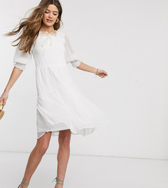 Платье-трапеция с квадратным вырезом Vero Moda Тall-Белый
