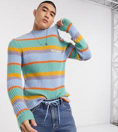 Джемпер в полоску с вышивкой COLLUSION-Мульти