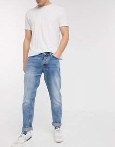 Синие суженные книзу джинсы классического кроя Nudie Jeans Co-Синий