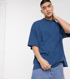 Синяя oversize-футболка COLLUSION-Темно-синий